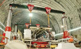 2,400-tonne tunnel-boring machine