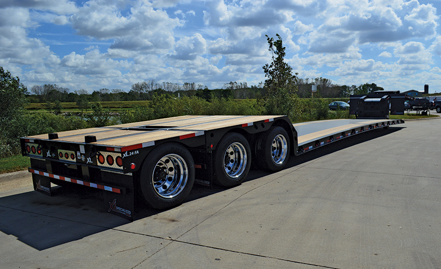 XL 80 Mini-Deck Hydraulic Detachable Gooseneck Trailer