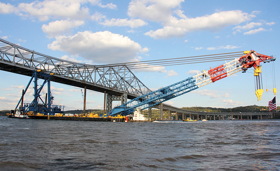 Crane with a 3.8-million-lb lifting capacity