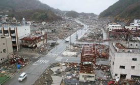 Onagawa earthquake and tsunami aftermath