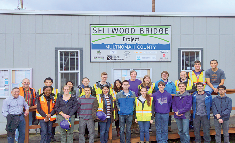 Beavers sponsored tour of the Sellwood Bridge Project