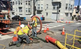 installing fiber-optic cable