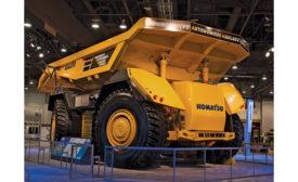 Komatsu autonomous mining truck