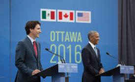 Obama and Trudeau in trade talks