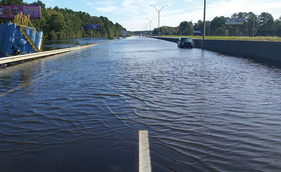 flooded interstate highway