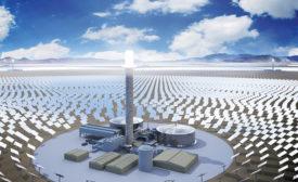 Sandstone solar power plant