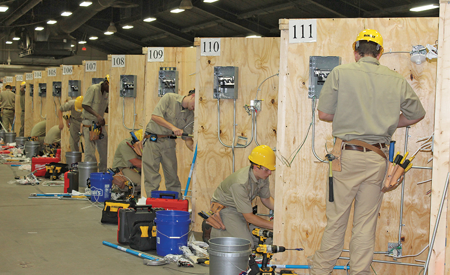 SkillsUSA electrical competition