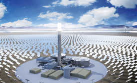 Sandstone solar power plant