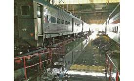 flooding at NJ Transit facility