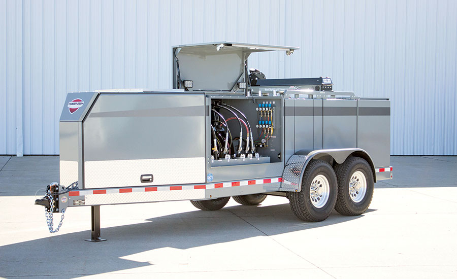 Thunder Creek SLT service and lube trailer