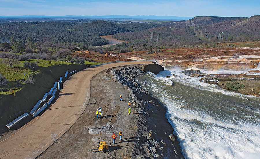 Oroville Dam Spillway Repaired in Advance of New Storm
