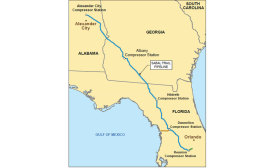 Natural-Gas Pipeline Map