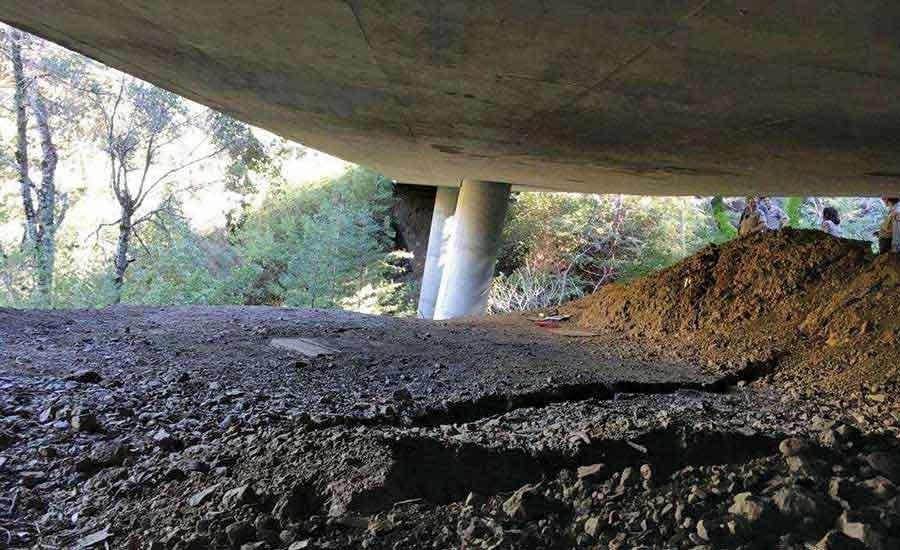 KPIX Sky Drone 5: Big Sur's Pfeiffer Bridge Comes Tumbling Down