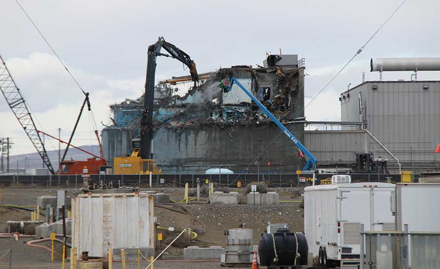 Plutonium Processing Facility Demolition Proceeds at Hanford ...