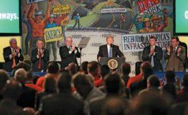 Trump and North America's Building Trades Unions annual legislative conference