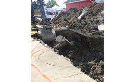 Kentucky trench excavation