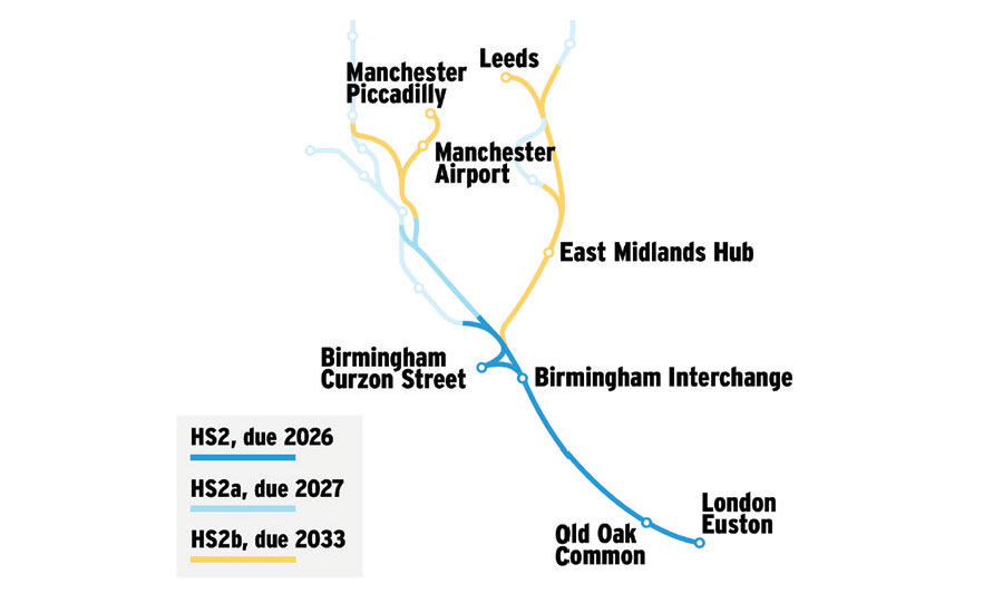 Bechtel High-Speed Map