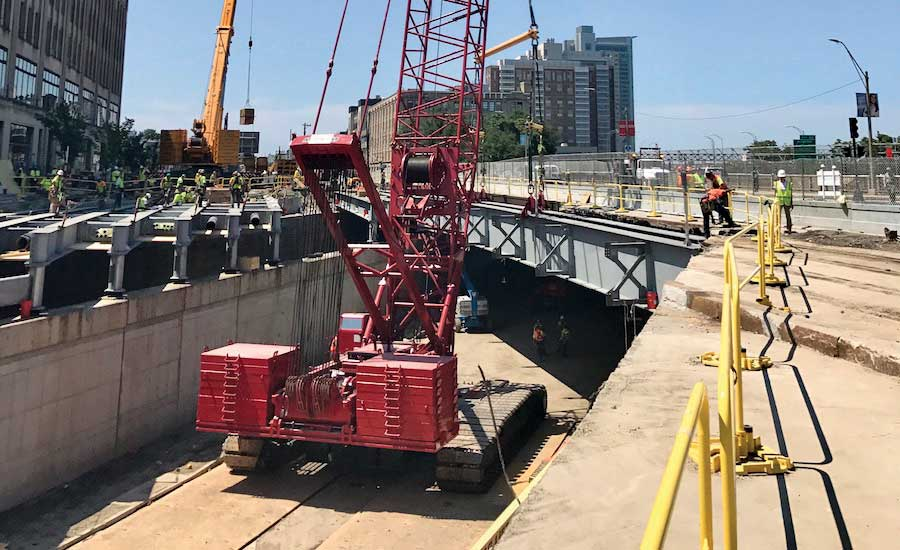 Boston Bridge Crew Opens Mass. Pike Three Weeks Early