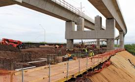 Elevated guideway system