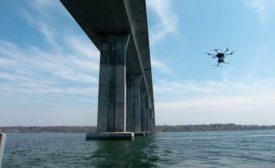 drone inspecting bridge