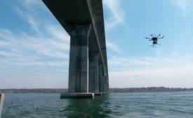 drone inspecting bridge