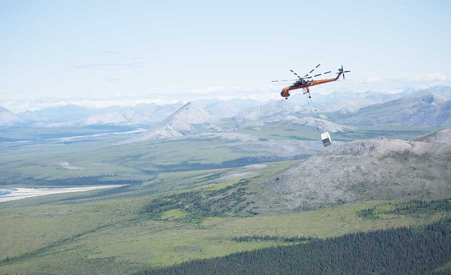 Contractor Uses Air Crane to Deliver Broadband to Remote