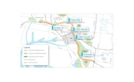map of proposed Melbourne Metro line