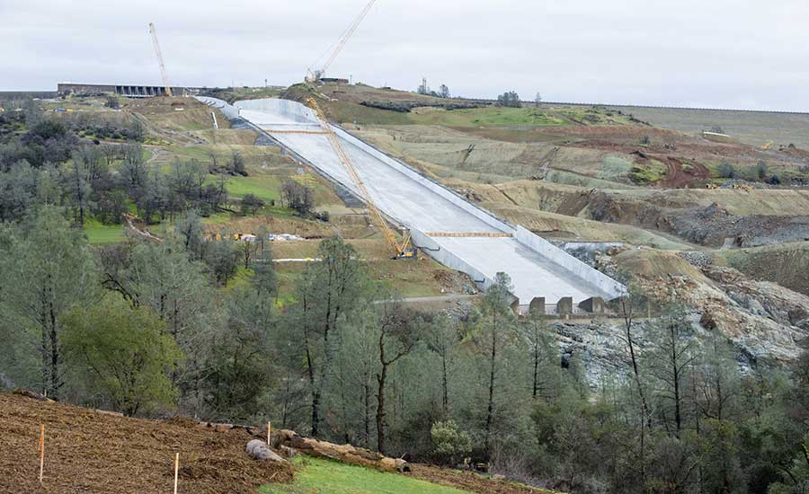 Led Sprint to Repair Oroville Spillway Before Winter Rains | 2018-01