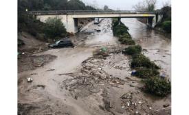 mudslide on Highway 101