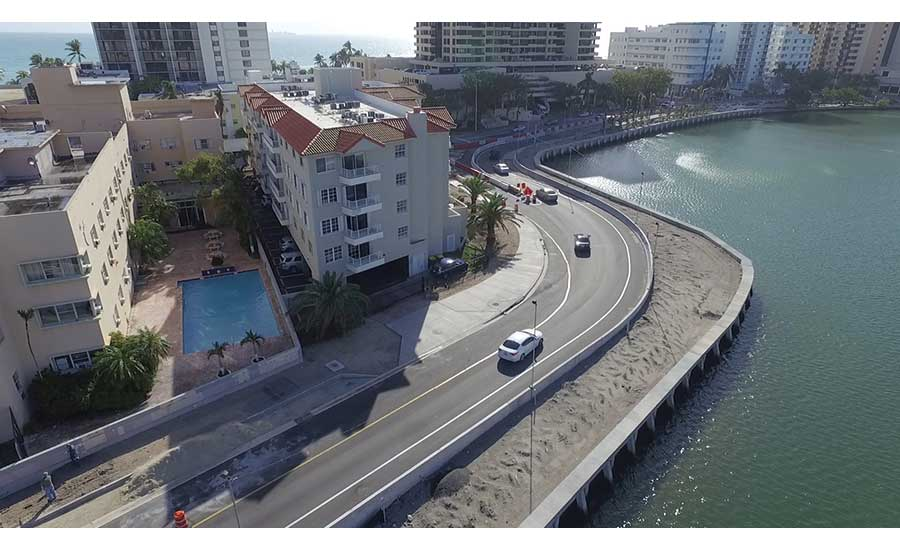 Miami Beach's A1A flood-mitigation project