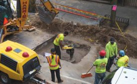 Sewer-line work