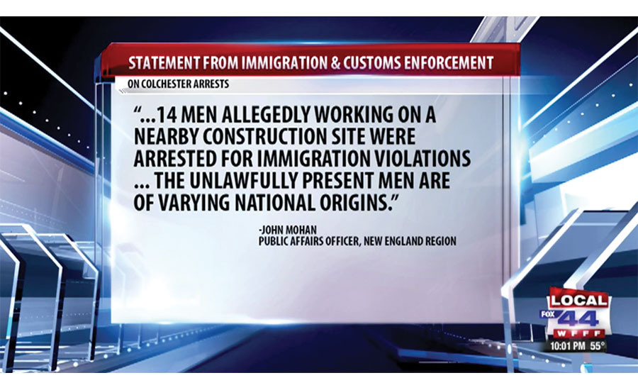 Undocumented construction workers arrested