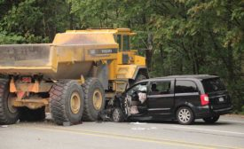 Haul-truck accident aftermath