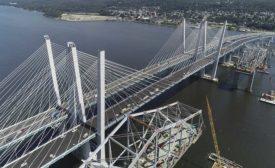 Construction of Mario Cuomo Bridge