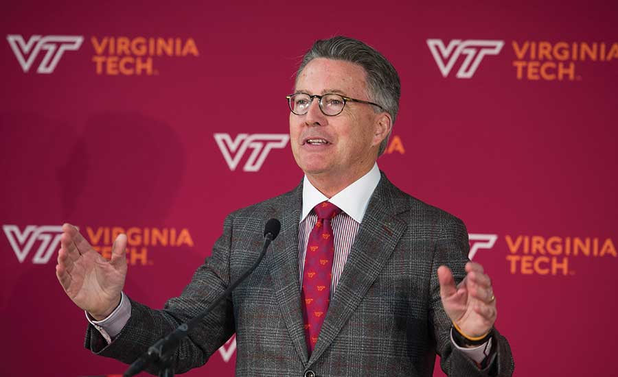 Virginia Tech President Tim Sands