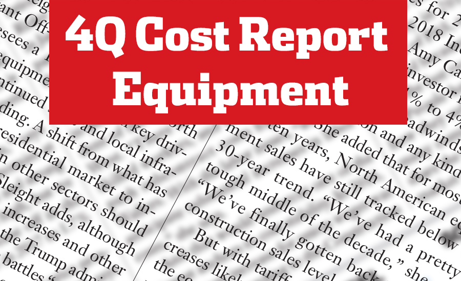 Q4 Cost Report: Equipment Manufacturers Set Price Hikes to Counter