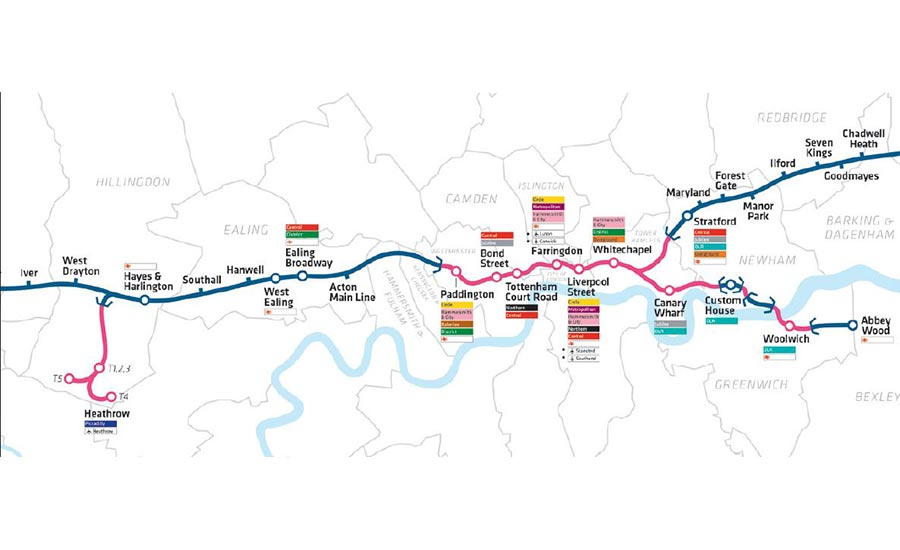 Crossrail project map