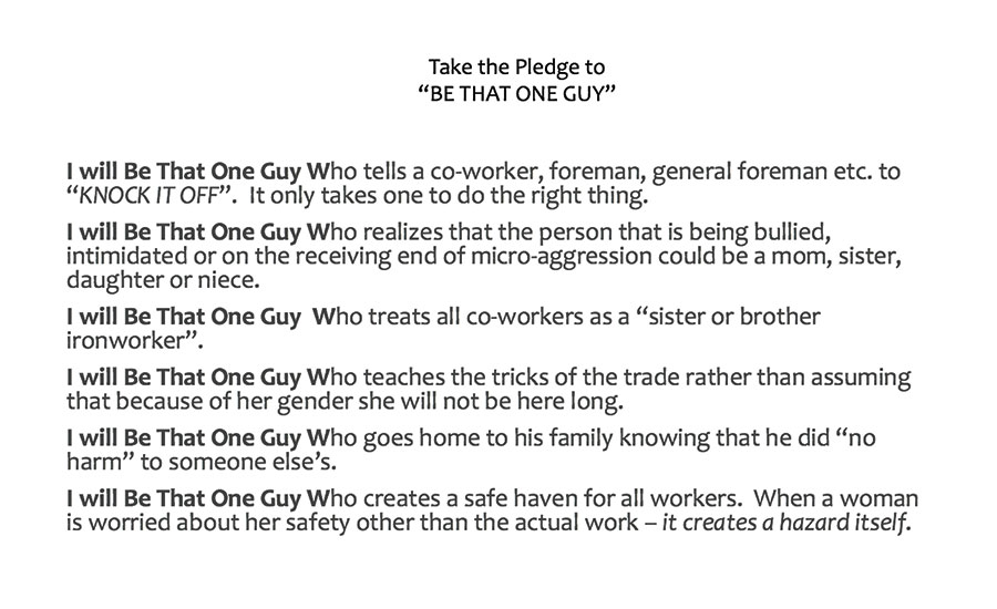 Be That One Guy pledge