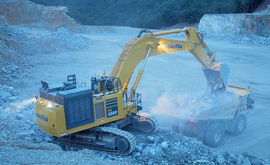 Komatsu PC-1250SP-11 and PC125LC-11 excavators