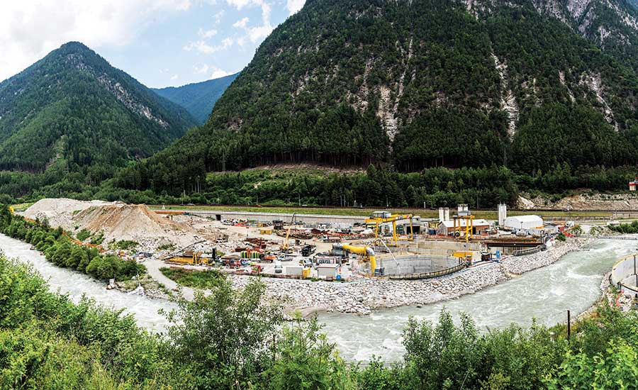 Brenner Base Tunnelers Conquer Peaks and Valleys