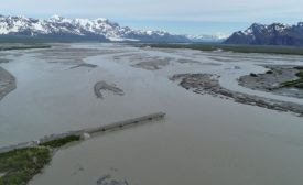 bridge washed out by Copper River