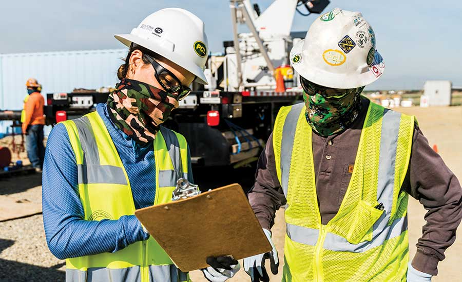 PCL employee awareness of using PPE