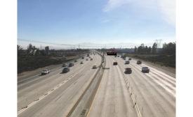 freeway cars and trucks