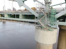 drone photo of bridge span