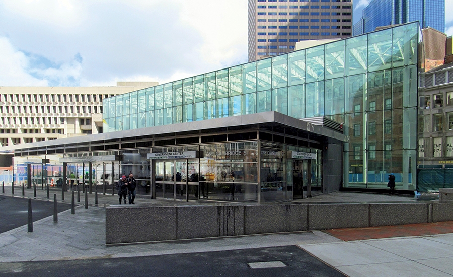 Government Center Station entrance
