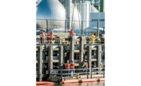 Newtown Creek wastewater treatment plant dock