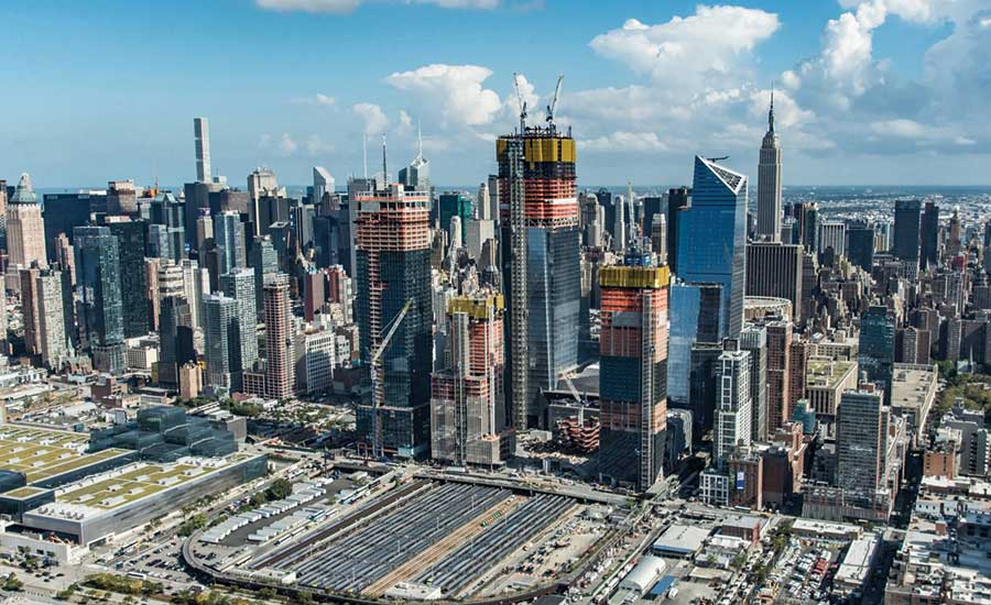 Hudson yards emerges on west manhattan skyline 2018 01 25 enr hudson yards high rise complex malvernweather