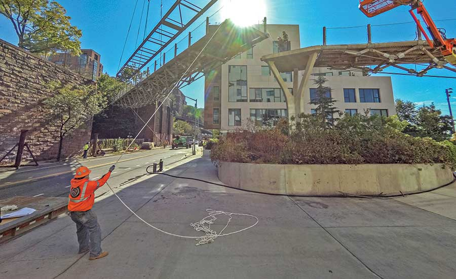 Steel Makeover Under Way for Brooklyn's Squibb Footbridge