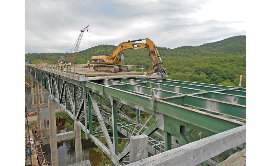Southbound bridge demolition