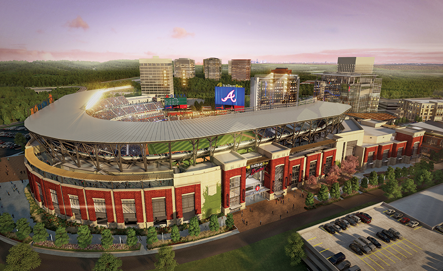 Braves Ballpark Builders Race to Beat Schedule